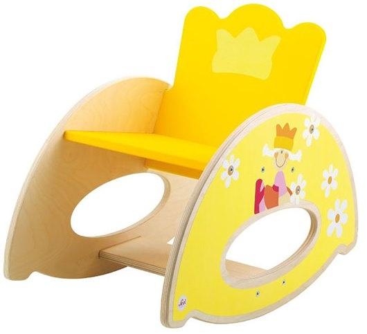 Sevi Houten Schommelstoel Prins en Prinses Geel