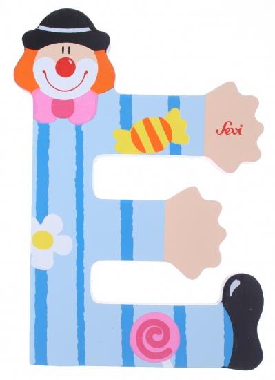 Sevi Letter E Clown blauw 10 cm