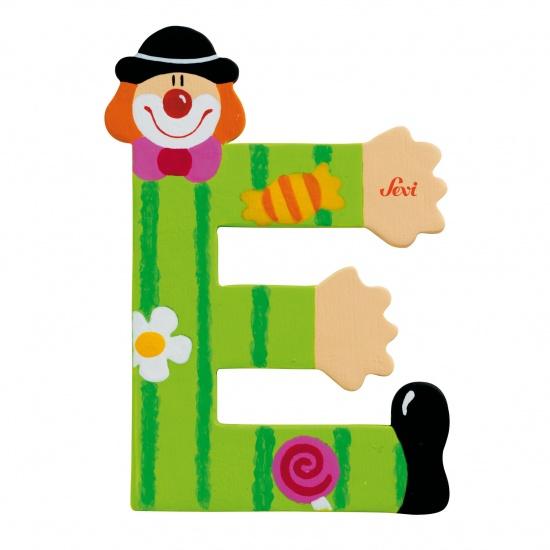 Sevi Letter E Clown groen 10 cm