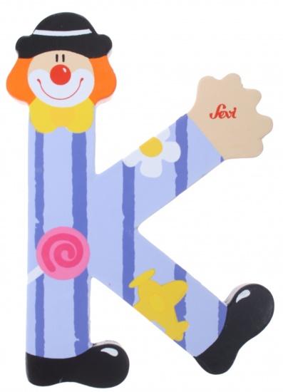 Sevi letter K clown 10 cm paars