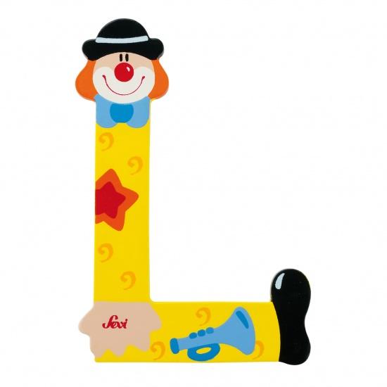Sevi Letter L Clown geel 10 cm