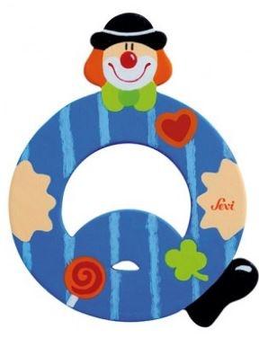 Sevi Letter Q Clown 10 cm