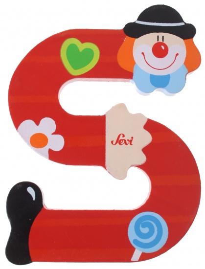 Sevi Letter S Clown rood 10 cm
