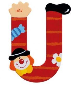 Sevi Letter U Clown 10 cm