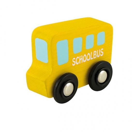 Sevi Schoolbus Mini Geel 7 cm