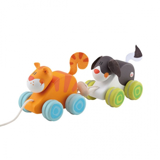 Sevi Trekdier Duo Hond & Kat 24 cm