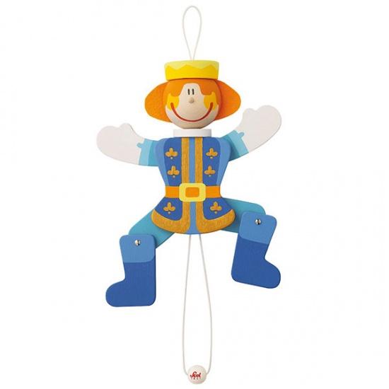 Sevi Trekpop Prins Blauw 22 cm
