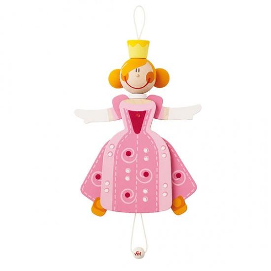 Sevi Trekpop Prinses Roze 22 cm
