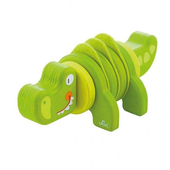 Sevi Twist Untwist Krokodil Groen
