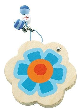Sevi Zakspiegeltje bloem hout blauw