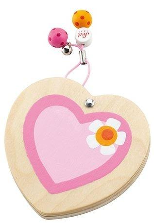 Sevi Zakspiegeltje hart hout roze