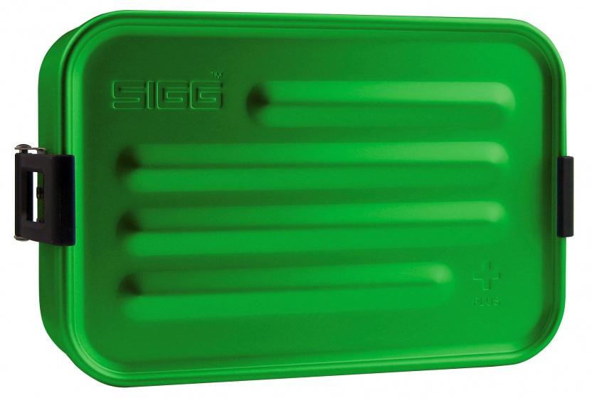 Sigg broodtrommel plus S aluminium groen 17 x 12 x 6 cm