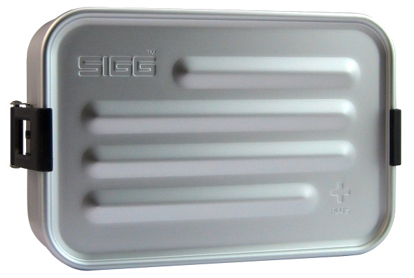 Sigg broodtrommel plus S aluminium zilver 17 x 12 x 6 cm