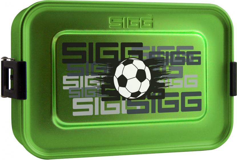 Sigg broodtrommel plus S voetbal aluminium 17 x 12 x 6 cm