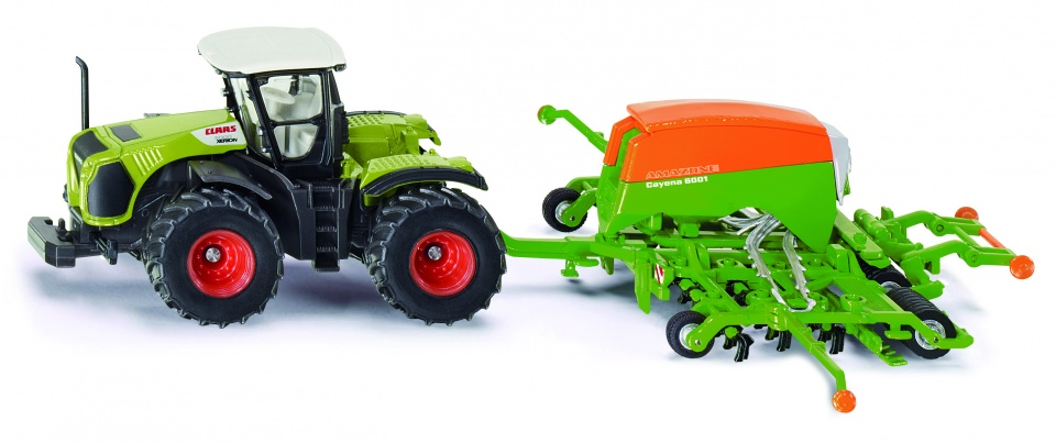 Tractor Siku Claas Xerion Met Zaaimachine
