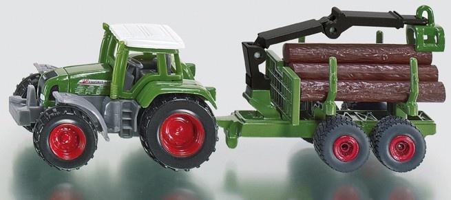 Siku Fendt Tractor Met Aanhanger Inclusief Boomstammen