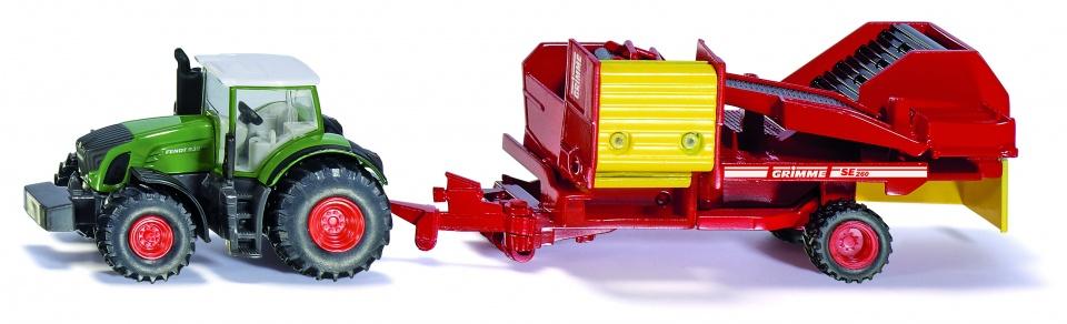Siku Fendt tractor met aardappelrooier