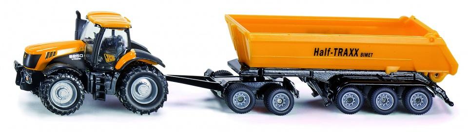 Tractor Siku Jcb 8250 Met Aanhanger