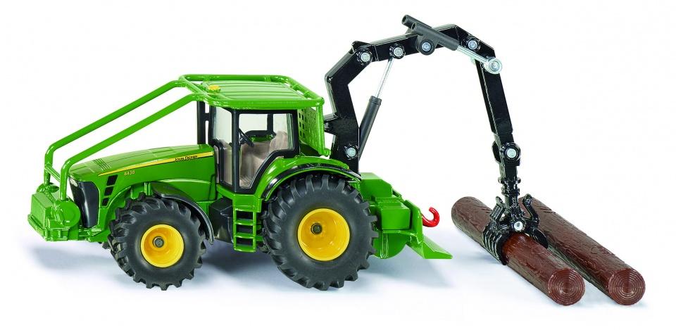 Siku John Deere Bosbouwtractor Met Accessoires