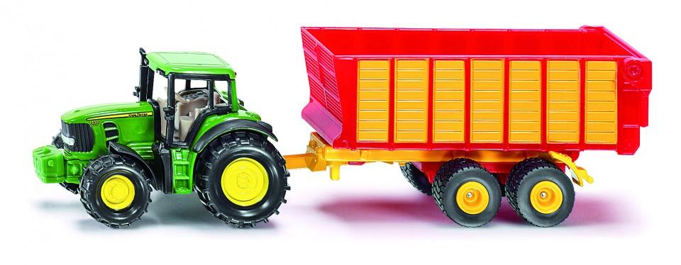 Tractor Siku John Deere Met Hooiwagen