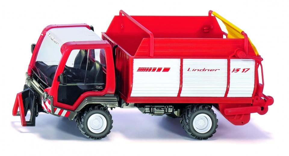 Siku Lindner Unitrac 82EP met Linder VS17 ladewagen rood/wit (3061)