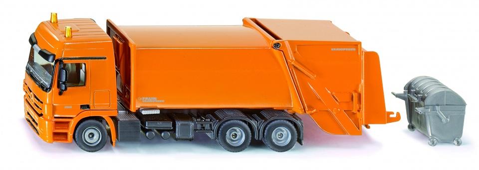 Siku Mercedes Benz vuiniswagen met Faun Variopress oranje (2938)