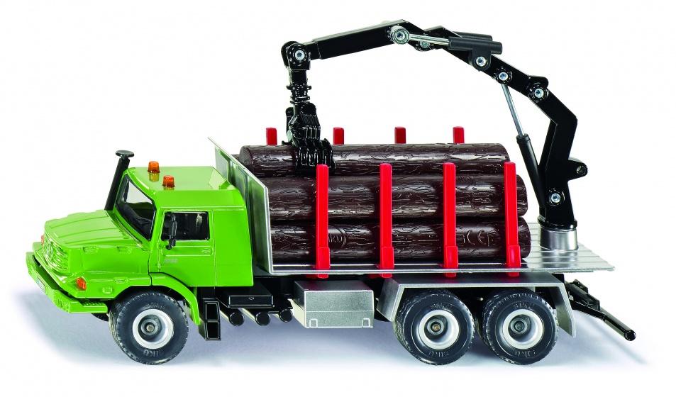 Vrachtwagen Siku Zetros Houttransport