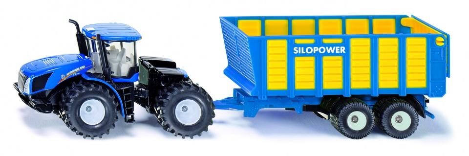 Siku New Holland Tractor Met Silagewagen