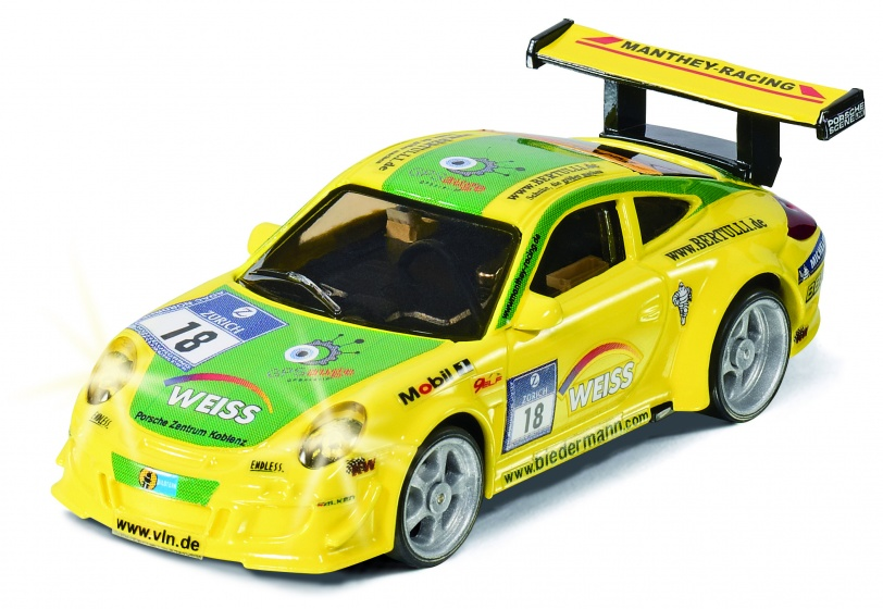 siku racing porsche 911 gt3 rsr with remote yellow 6822. Black Bedroom Furniture Sets. Home Design Ideas