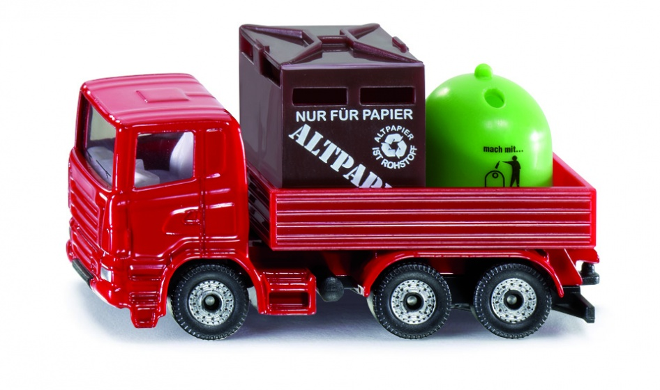 Siku recycle vrachtwagen rood (0828)