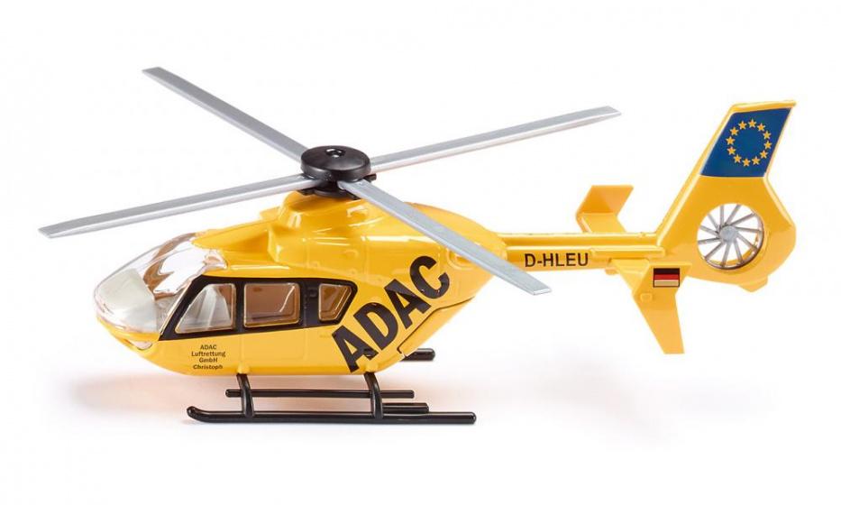 Siku reddingshelikopter Adac 20,7 cm staal geel/zwart (2539)