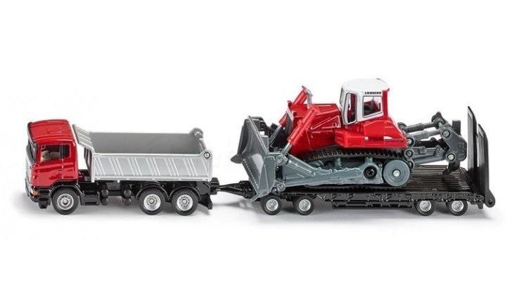 Siku Scania Vrachtwagen Met Trailer en Bulldozer (1854)