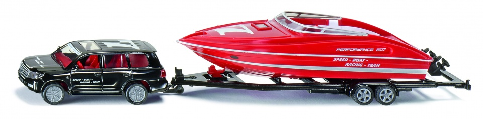 2543 Siku Auto met Speedboot
