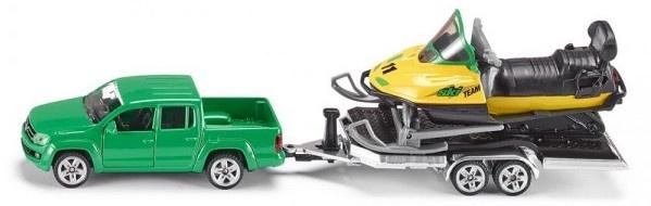 Auto Siku Met Aanhanger En Sneeuwmobiel