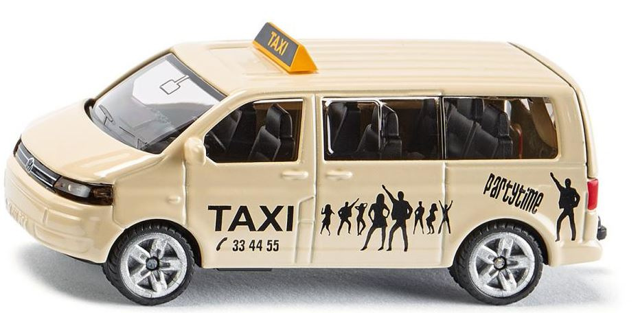 Siku VW Transporter taxibus 8,5 cm staal beige (1360)