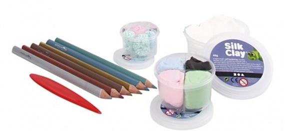 Silk Clay Diy Kit themaset Unicorn Pencils 10 delig