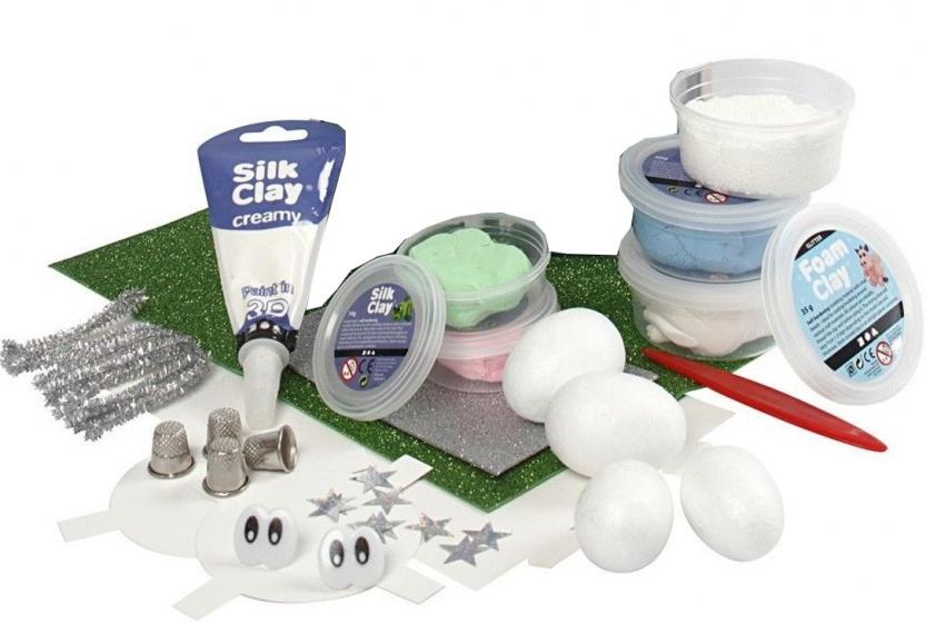 Silk Clay Diy Kit themaset Unicorns Secret World 10 delig