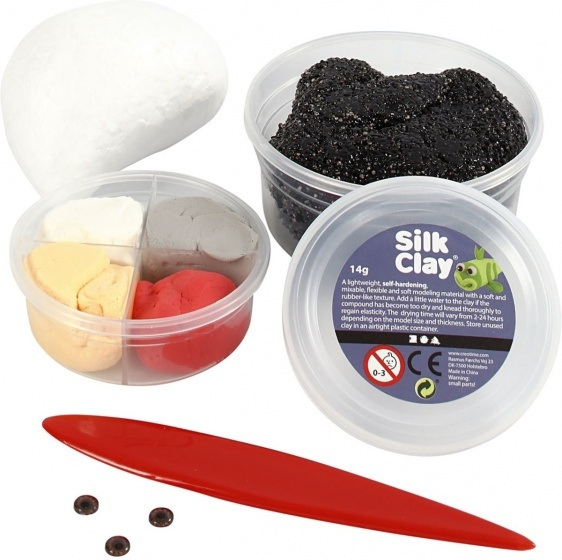 Silk Clay knutselset Ugly Monsters zwart 6 delig