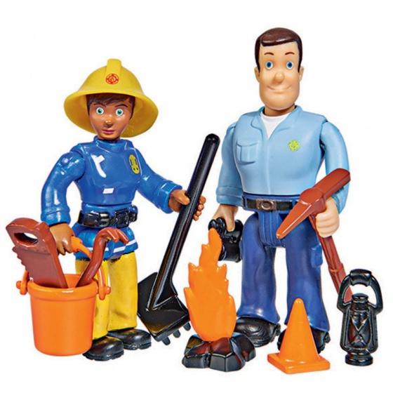 Simba Brandweerman Sam en Ellie speelfiguren 7 cm