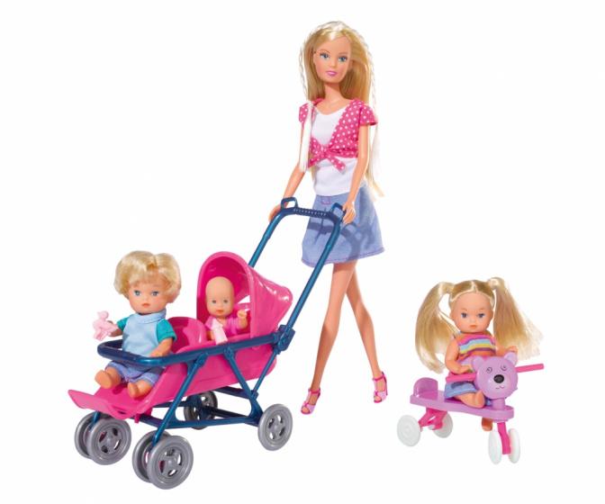 Simba pop Steffi Love Baby World 29 cm roze 20 delig