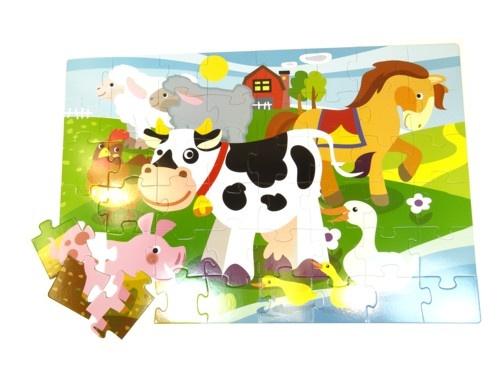 Simply for Kids Giant Vloerpuzzel Farm 48 Stukjes