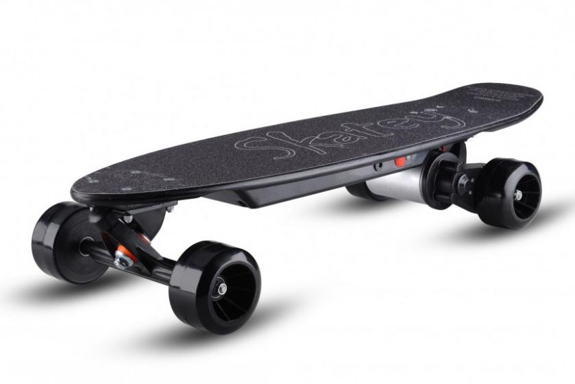 Skatey 150 Lithium electrisch skateboard junior 80 cm zwart