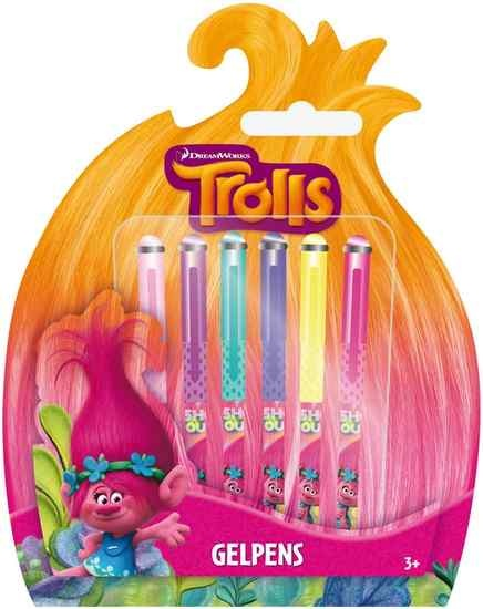Trolls Gelpennen 6 stuks