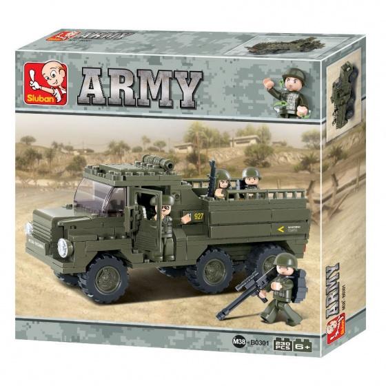 Sluban Army Vrachtwagen troepentransporter - B0301