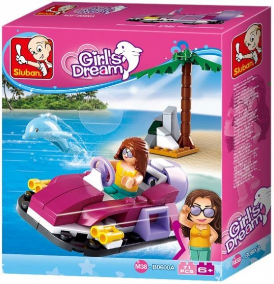 Bouwstenen Girls Dream Serie Hovercraft