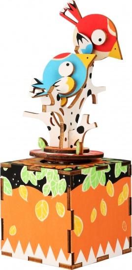 Small Foot 3D muziekdoos vogels 9 x 18 cm multicolor 47 delig