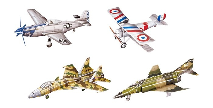 Small Foot 3D Puzzel Historische Vliegtuigen 4 Sets 23 Delig