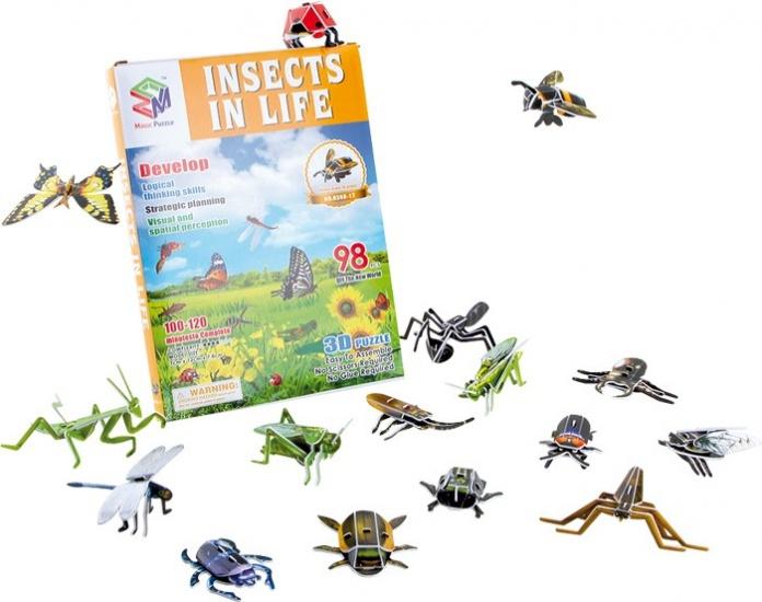 Small Foot 3D Puzzel Insecten 13 Stuks 98 Delig