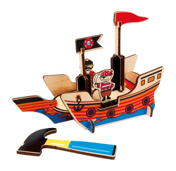 Small Foot 3D Puzzel Piratenboot 16 Delig