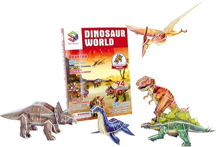 Small Foot 3D Puzzel Wereld Van Dinosauriërs 94 Delig